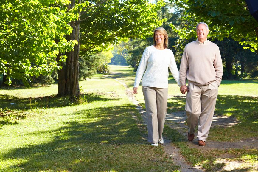 lderly seniors couple