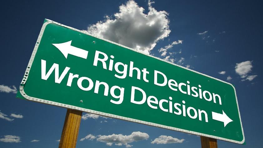 jódöntés, rossz döntés