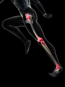 3d rendered illustration - painful runner joints
