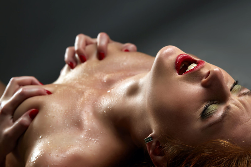 43728085 - concept of passion. image of sensual woman has orgasm