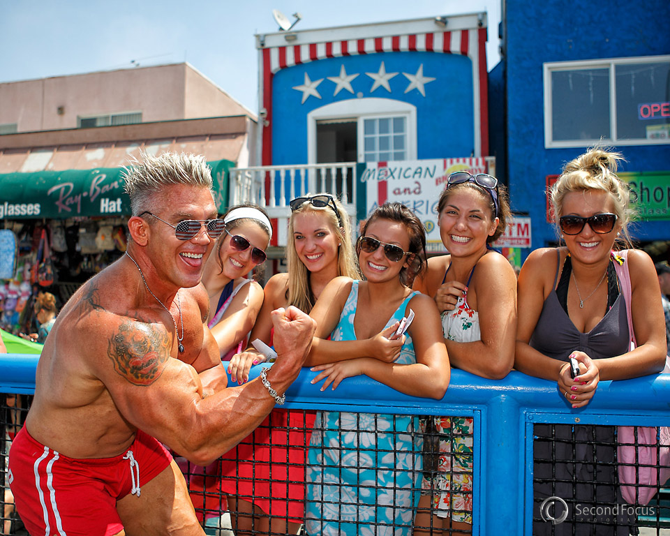 Muscle Beach on July 4th 2011 at world famous Venice Beach California.